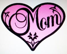 Free svg file of Mom inside a heart