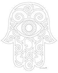 Image Result For Hamsa Black And White Free Printable