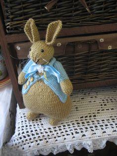 Knitted bunny Peter Rabbit    Beatrix Potter by dollsandbunnies, $35.00