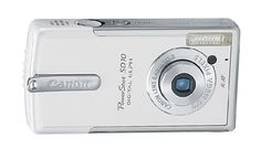 Canon Digital ixus i, had one of these in my possession for a short time back in 2003. Nice and neat but with lousy picture quality.