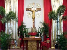 Church décor for Palm Sunday