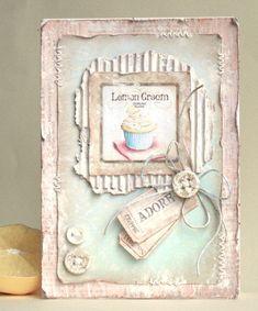 """Ещё раз привет!:)  В блоге Vintage Cafe Card Challenge  стартовало новое задание # 5 - """"Счастливый билет!"""" , нужно сделать открытку, использ..."""