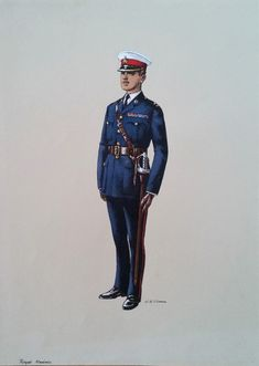 Royal Marine In Full Dress Uniform, Original Watercolour Painting signed by artist W.Mann by LuckSy on Etsy British Royal Marines, British Army Uniform, British Uniforms, British Armed Forces, Royal Marines Uniform, Military Art, Military History, Military Uniforms, English Army
