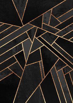 'Art Deco Midnight' by Elisabeth Fredriksson Graphic Art on Wrapped Canvas - Live Wallpapers Motif Art Deco, Art Deco Design, Art Deco Art, Geometric Designs, Geometric Art, Art Nouveau, Painting Prints, Canvas Prints, Canvas Artwork