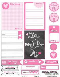 Free Printable Download    Cupids Arrows Journaling Elements
