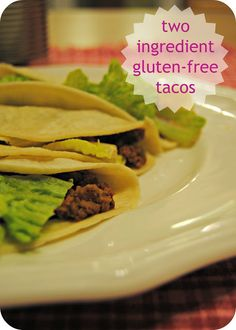 Two-Ingredient Gluten-Free Tacos tacos from a jar & tips on using corn tortillas Tacos have been a staple of mine for a long tim. Gluten Free Tacos, Gluten Free Diet, Corn Tortillas, Celiac, Free Blog, Bagels, Fajitas, Wraps, Beef