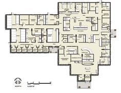 Floor plan – 2013 Veterinary Hospital of the Year: Allandale Veterinary Hospital… - dog kennel boarding Animal Care Hospital, Old Hospital, Hospital Plans, Pet Clinic, Animal Clinic, Veterinary Medicine, Veterinary Clinics, Hospital Architecture, Medical Office Design