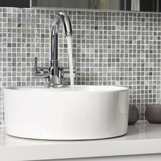 Mosaic-tiled splashback | Bathroom | Makeover | PHOTO GALLERY | Ideal Home | Housetohome.co.uk