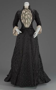 1889 second year mourning dress