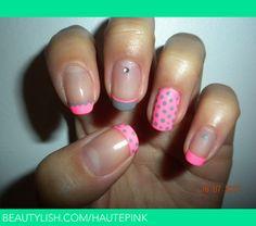 Neon Pink & Grey   Elaina Y.'s (hautepink) Photo   Beautylish
