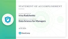 Data Science for Managers course