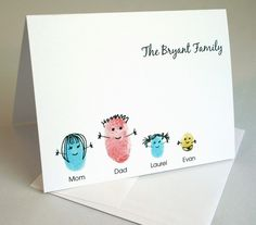 thumbprint family card