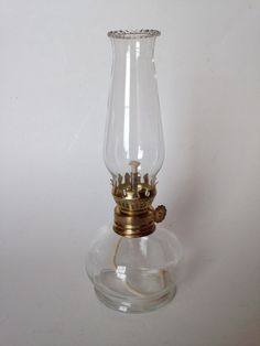 Mini size hurricane oil lamp made in Italy for Lamplighter Farms. EBSVintageHome