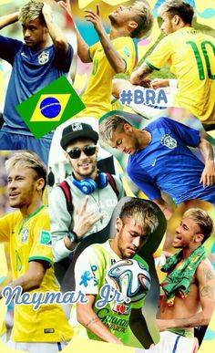 Collage Neymar Jr, Neymar Brazil, Love You Babe, Good Soccer Players, Football Love, Pin Pics, Best Player, Fc Barcelona, Messi