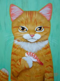 I Love Cats, Crazy Cats, Cool Cats, Kitten Drawing, Cute Cat Drawing, Unique Cats, Orange Cats, Ginger Cats, Christmas Cats