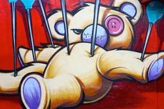 Amazing graffiti in wynwood walls , miami one of the hippest neighborhoods in the country Emo Art, Goth Art, Creepy Pictures, Creepy Art, Graffiti Wall, Dark Art, Surrealism, Art Miami, Street Art