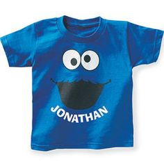 Cookies and Milk Birthday Party Ideas: personalized Cookie Monster T-shirt
