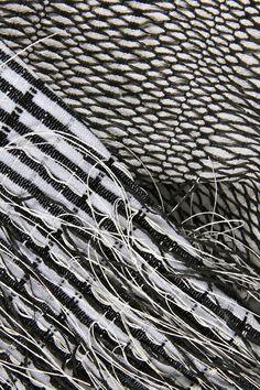 Monochrome Weave - woven textile design for fashion, textural weaving // Alice Pointon
