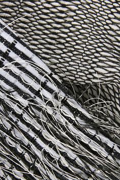 Monochrome Weave - woven textile design for fashion, textural weaving // Alice Pointon
