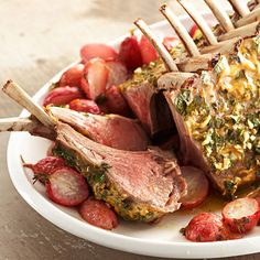 Serve this delicious roasted rack of lamb recipe as your featured main dish when you host family and friends for dinner.