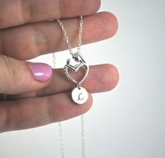 Mother Child I love you 925 Sterling Silver Necklace Silver