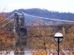 Wheeling WV Suspension Bridge