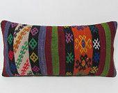 kilim pillow outdoor pillow set lumbar pillow bedroom decoration kilim pillow sham embroidery pillow sham striped pillow case colorful 26012