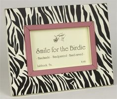 Zebra Black Tabletop Picture Frame by Smile For The Birdie