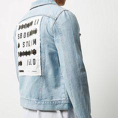 Bleach back print denim jacket - denim jackets - coats / jackets - men