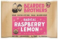 Bearded Brothers Paleo Energy Bars, Organic Source of Protein, Vegan and Gluten Free Pack: Raspberry Lemon) Organic Food Bar, Organic Recipes, Paleo Energy Bars, Food Energy, Paleo For Beginners, Food Clips, High Fiber Foods, High Protein Recipes