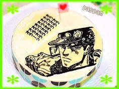 義兄さんへの誕生日ケーキらしいんですが、誕生日にオラオラ←ってァ,、'`,、 (◍'౪`◍)'`'`,、 - 13件のもぐもぐ - キャラチョコチーズケーキ:ジョジョの奇妙な冒険 by pappam