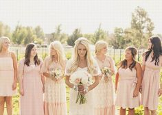 Not loving the bridal dress but I do love the blends of pale pink