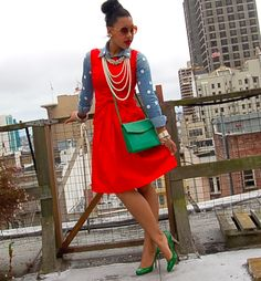 Color Me Courtney - New York City Fashion Blog: dots & spots (Yessss!)
