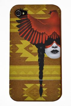 iPhone 4 and 4s case Cardinal Warrior by sharpshirter on Etsy, $15.00