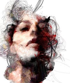 Laws of Attractor, generative series of portraits using a mixture of generative…
