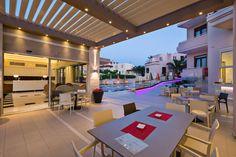 Beautiful architecture at #Oscar Suites & Village in Agia Marina, Platanias - Crete, Greece