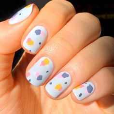 Cute Simple Nails, Simple Acrylic Nails, Easy Nail Art, Cute Nails, Pretty Nails, Cute Nail Art Designs, Toe Nail Designs, Nails Design, Spring Nail Art