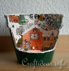 Terracotta Pot Christmas Crafts | Christmas Craft Projects - Clay Pot Crafts - Terracotta Pot Christmas ...