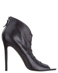The Mode Collective - Low Lace Up Booties - Heels (Black)