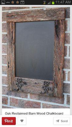 Old barn or pallett wood chalk board