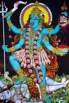 There are many Hindu gods and goddesses, including Brahma, Vishnu, and Shiva. Learn about some of the most important deities of the Hindu faith. Shiva Hindu, Hindu Deities, Krishna Art, Hindu Art, Kali Dance, Kinetic Sculpture Race, Maa Kali Images, Kali Mantra, Indian Goddess Kali
