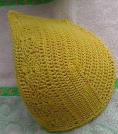 Crochet bra diagram