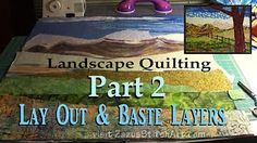 Fabric Painting Mountains | Part 1 Landscape Quilting Tutorial | Fiber Art by Zazu - YouTube