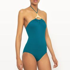 f0cfc5520a Jewelled Swimsuit - La Redoute Collections Green Teal 12 on eBid United  Kingdom | 172440364