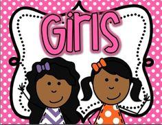 Bathroom Signs For Kindergarten boy and girl restroom signs bright polka dot   child care