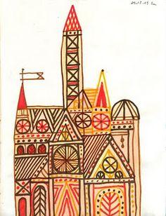 Rob Dunlavey architecture illustrations