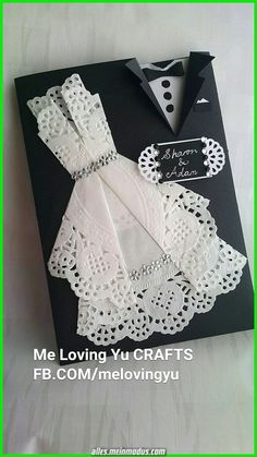 Fashionable wedding invitations origami paper dresses 64 ideas - Weddings - Dresses, Engagement Rings, and Ideas! Diy Wedding Invitations Templates, Wedding Invitation Paper, Wedding Cards Handmade, Wedding Gifts, Trendy Wedding, Formal Wedding, Lace Wedding, Wedding Menu, Spring Wedding