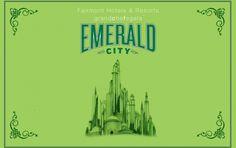 OZ... A nice outline of the Emerald City.