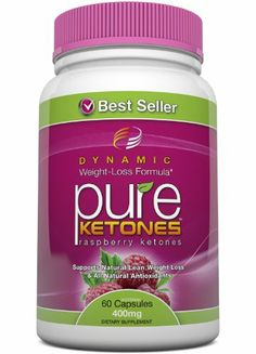 PURE KETONES Raspberry Ketones, 400 mg Per Serving, 60 Vegetarian Capsules. 100% Pure All Natural Lean Weight Loss Appetite Suppressant Supplement for Men and Women. Max Pure Raspberry Ketones Per Capsule. Full Double-Strength 30-Day Supply. Dynamic Nutrition.