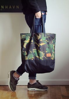 Formvoo Waxed Cotton Tote Bag - Handcrafted in Denmark - shopping bag, beach bag, travel bag. on Etsy, $72.43